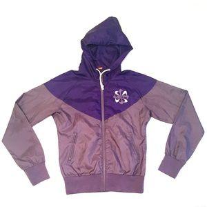 Women's Nike Windbreaker Jacket Size Small Purple